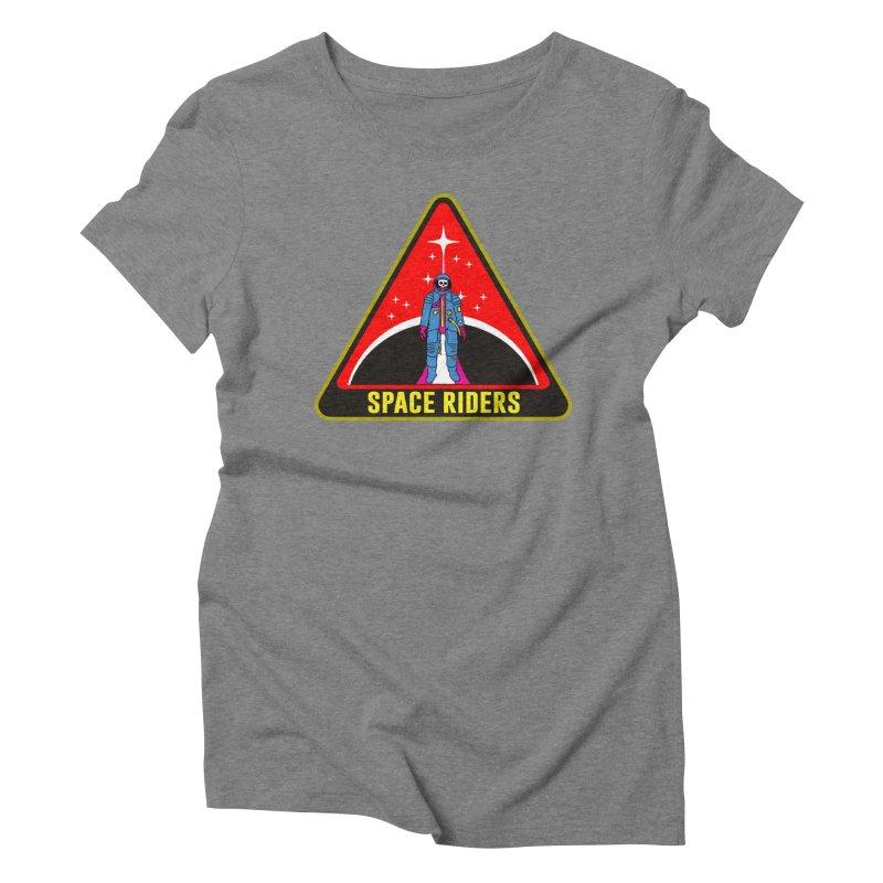 Space Riders - Patch  Women's Triblend T-Shirt by Alexis Ziritt