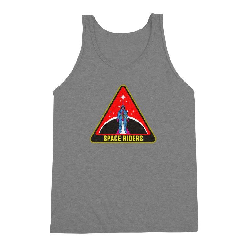 Space Riders - Patch  Men's Triblend Tank by Alexis Ziritt