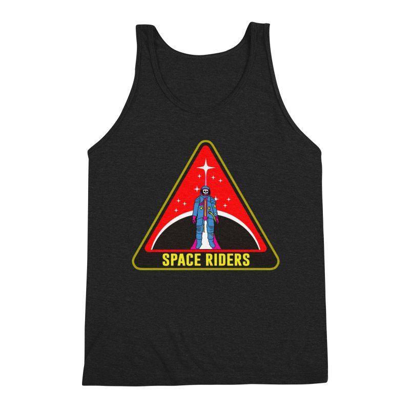 Space Riders - Patch  Men's Triblend Tank by Alexis Ziritt