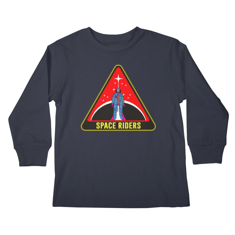 Space Riders - Patch  Kids Longsleeve T-Shirt by Alexis Ziritt