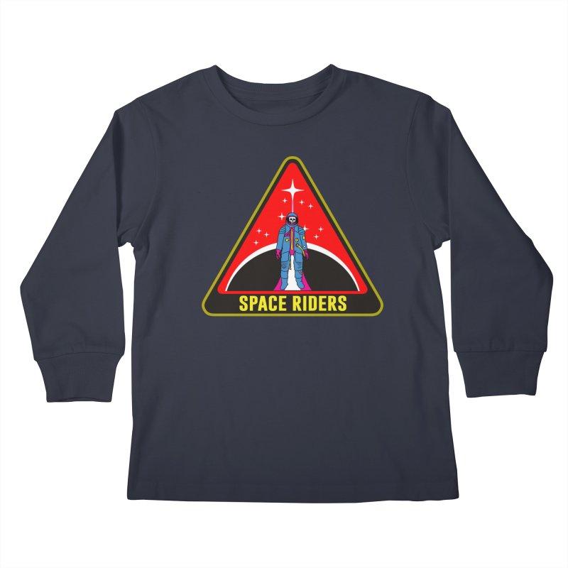 Space Riders - Patch  Kids Longsleeve T-Shirt by aziritt's Artist Shop