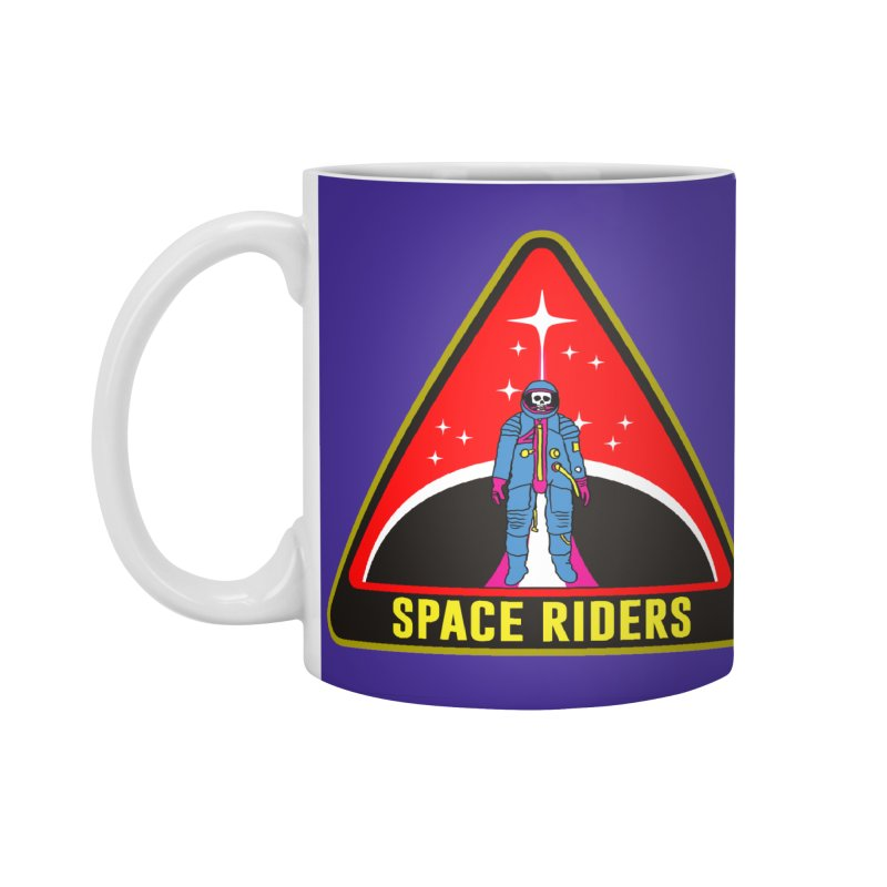 Space Riders - Patch  Accessories Standard Mug by Alexis Ziritt