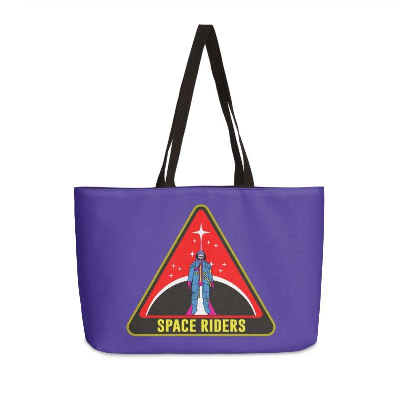 Space Riders - Patch  Accessories Weekender Bag Bag by Alexis Ziritt