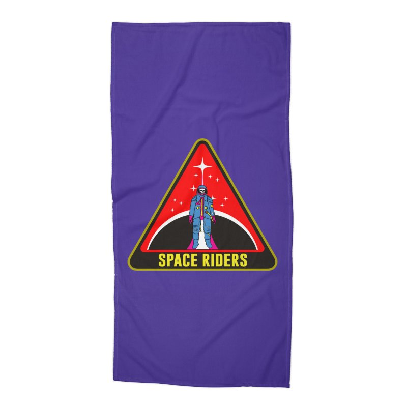Space Riders - Patch  Accessories Beach Towel by Alexis Ziritt
