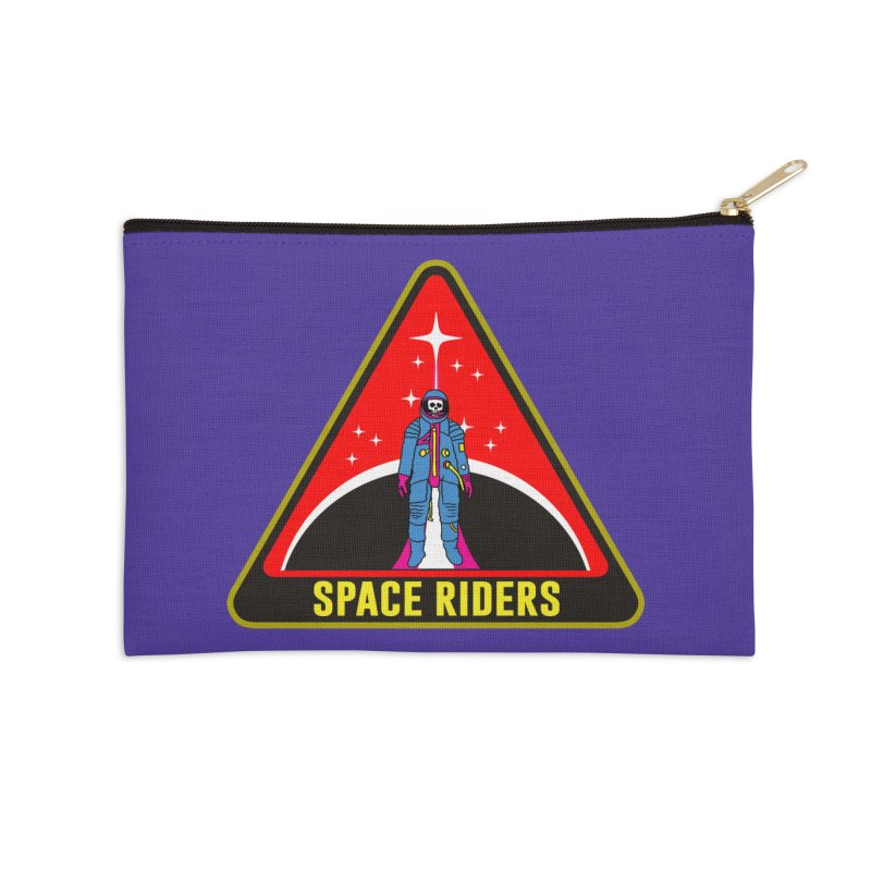 Space Riders - Patch  Accessories Zip Pouch by Alexis Ziritt