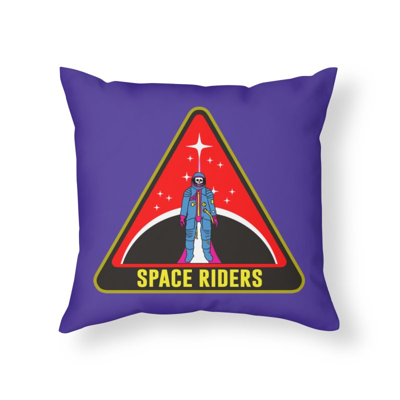 Space Riders - Patch  Home Throw Pillow by Alexis Ziritt