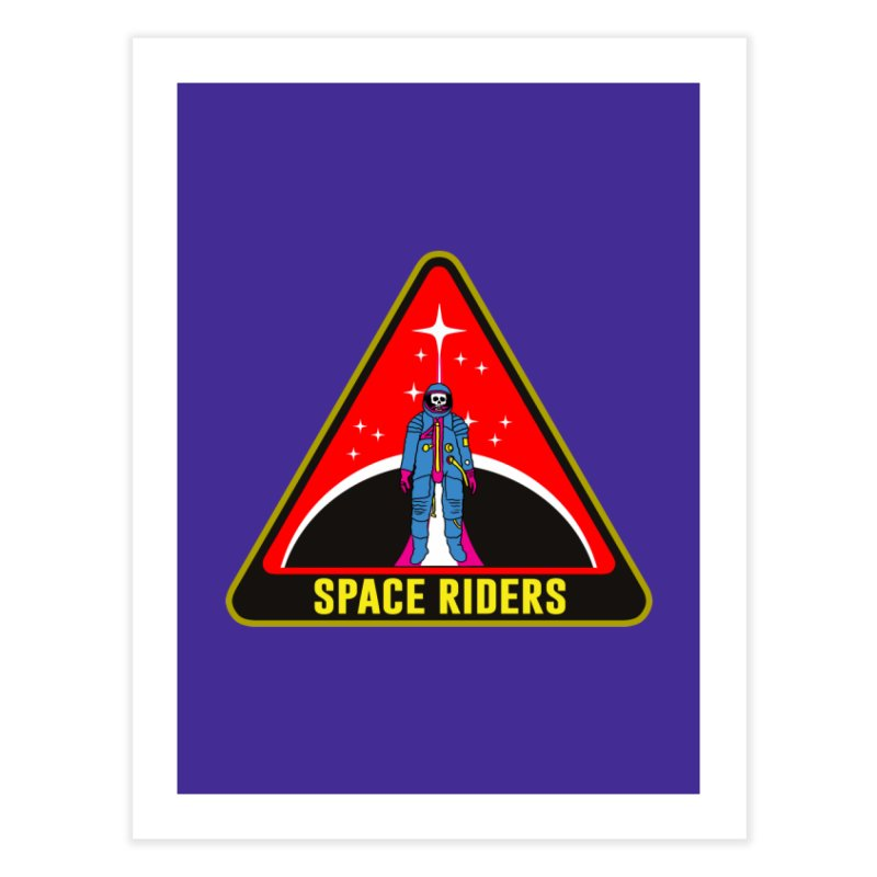 Space Riders - Patch  Home Fine Art Print by Alexis Ziritt