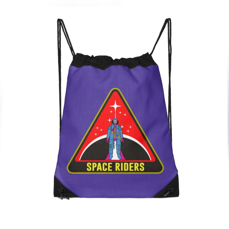 Space Riders - Patch  Accessories Drawstring Bag Bag by Alexis Ziritt