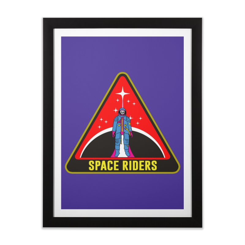 Space Riders - Patch  Home Framed Fine Art Print by Alexis Ziritt