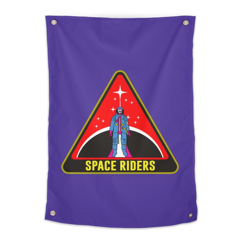Space Riders - Patch  Home Tapestry by Alexis Ziritt