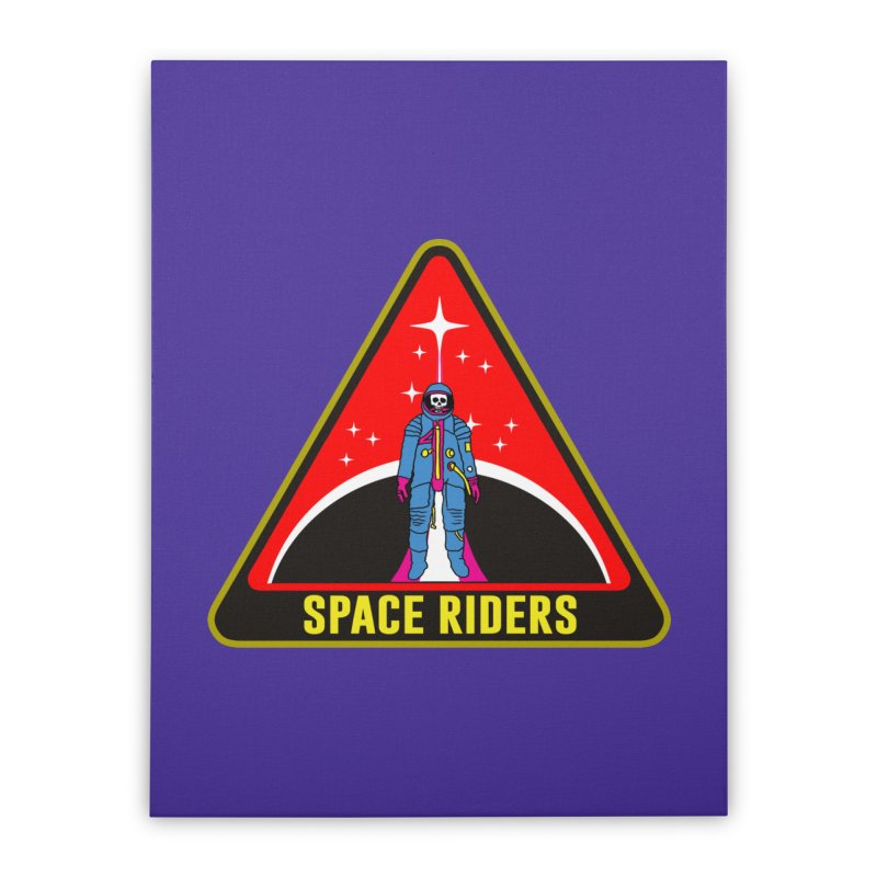 Space Riders - Patch  Home Stretched Canvas by Alexis Ziritt