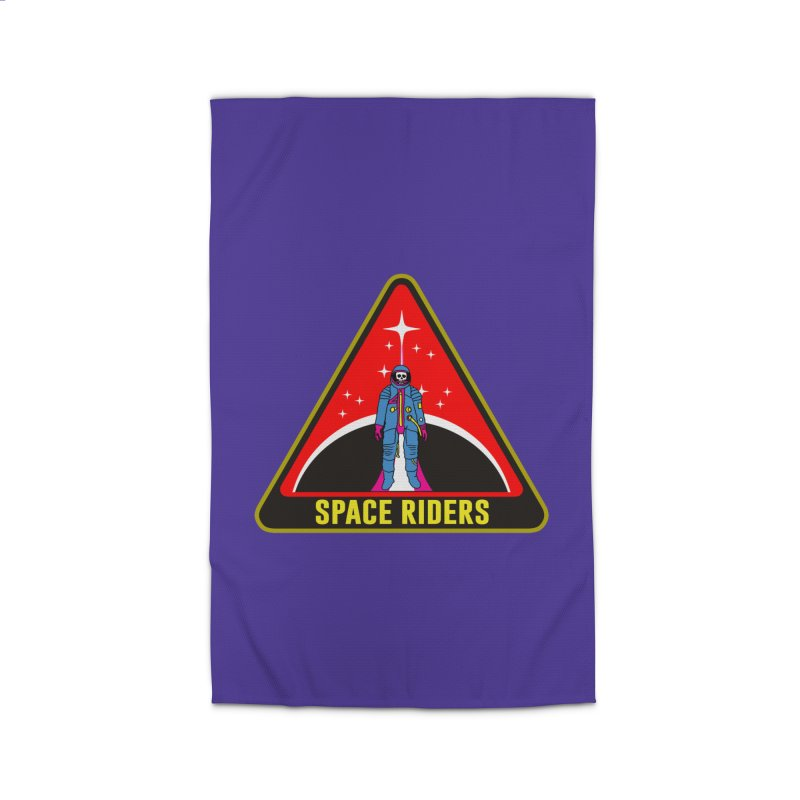 Space Riders - Patch  Home Rug by Alexis Ziritt