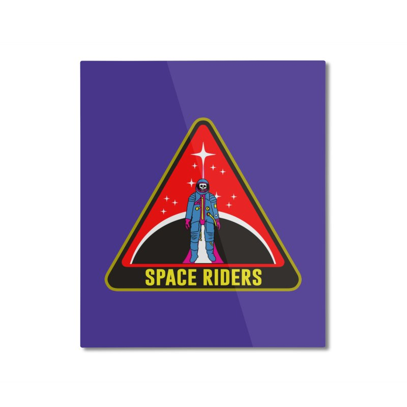 Space Riders - Patch  Home Mounted Aluminum Print by aziritt's Artist Shop