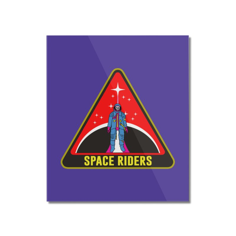 Space Riders - Patch  Home Mounted Acrylic Print by aziritt's Artist Shop