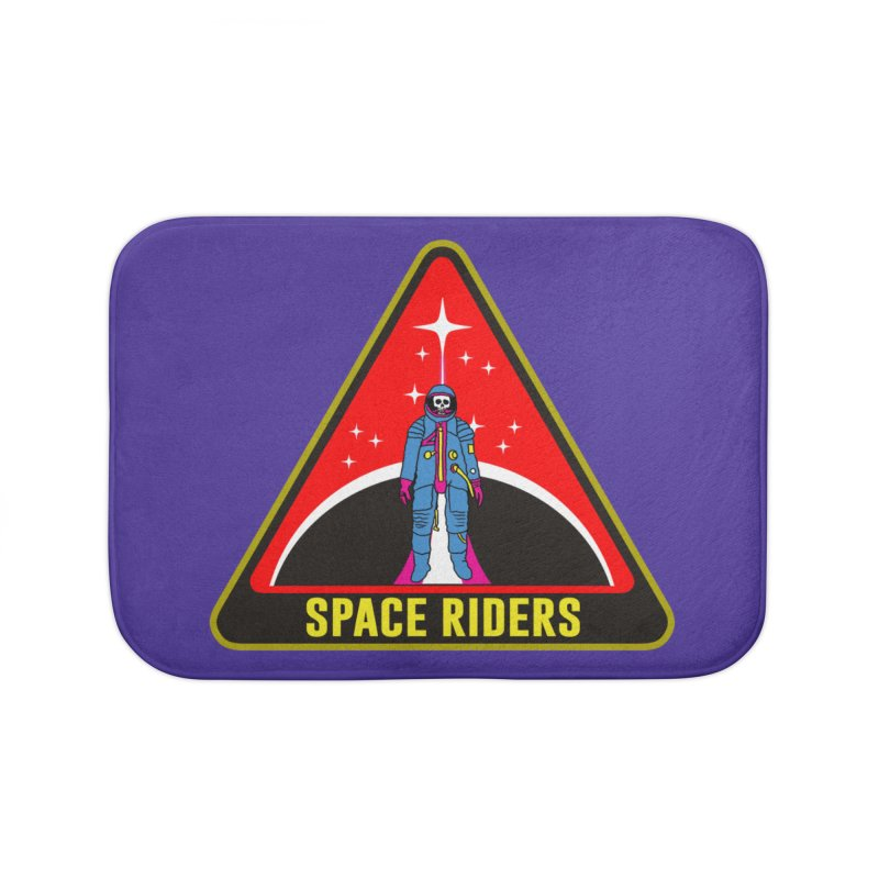Space Riders - Patch  Home Bath Mat by Alexis Ziritt
