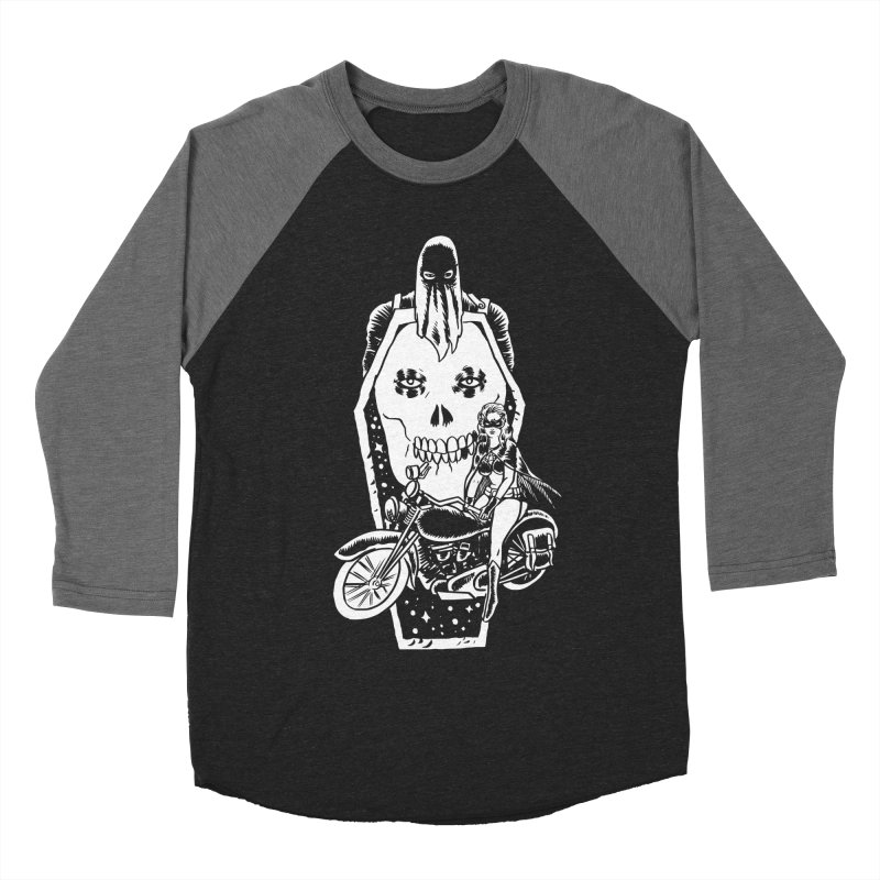 TARANTULA coffin  in Men's Baseball Triblend T-Shirt Grey Triblend Sleeves by aziritt's Artist Shop