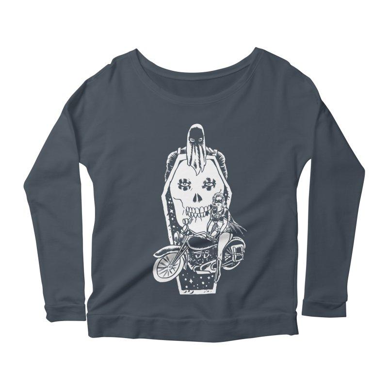 TARANTULA coffin  Women's Scoop Neck Longsleeve T-Shirt by aziritt's Artist Shop
