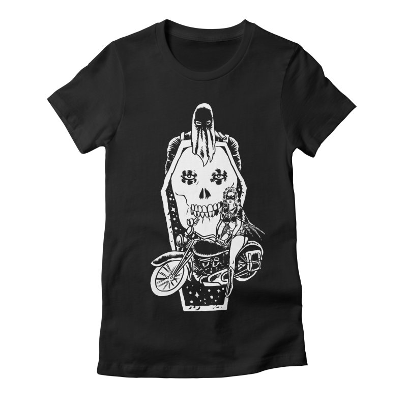 TARANTULA coffin  Women's Fitted T-Shirt by Alexis Ziritt