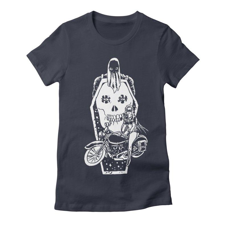 TARANTULA coffin  Women's Fitted T-Shirt by aziritt's Artist Shop