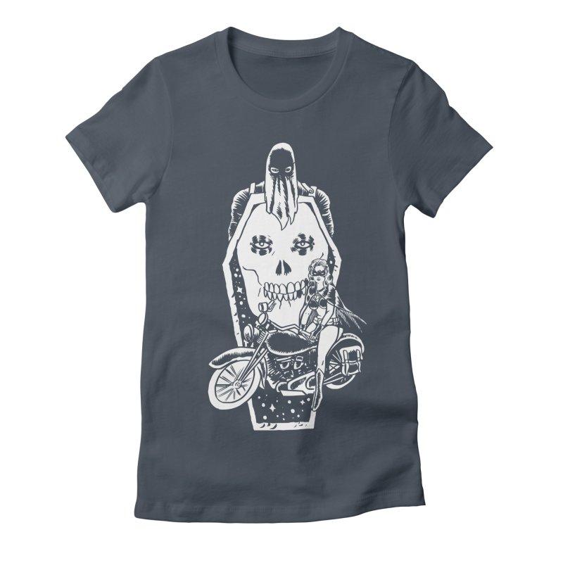 TARANTULA coffin  Women's Fitted T-Shirt by Alexis Ziritt