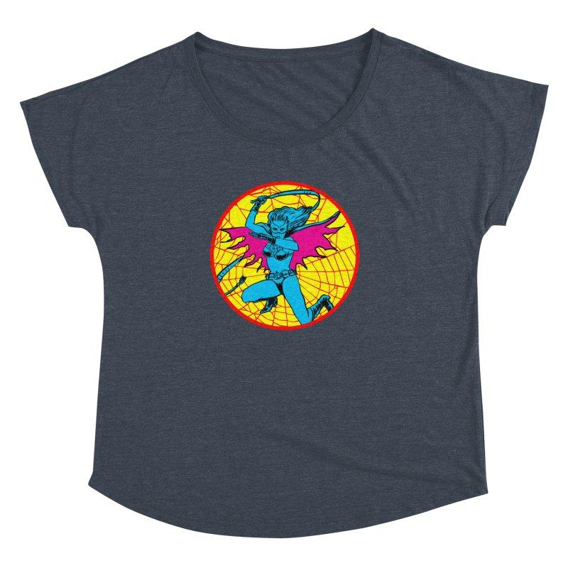 Tarantula Women's Dolman Scoop Neck by Alexis Ziritt