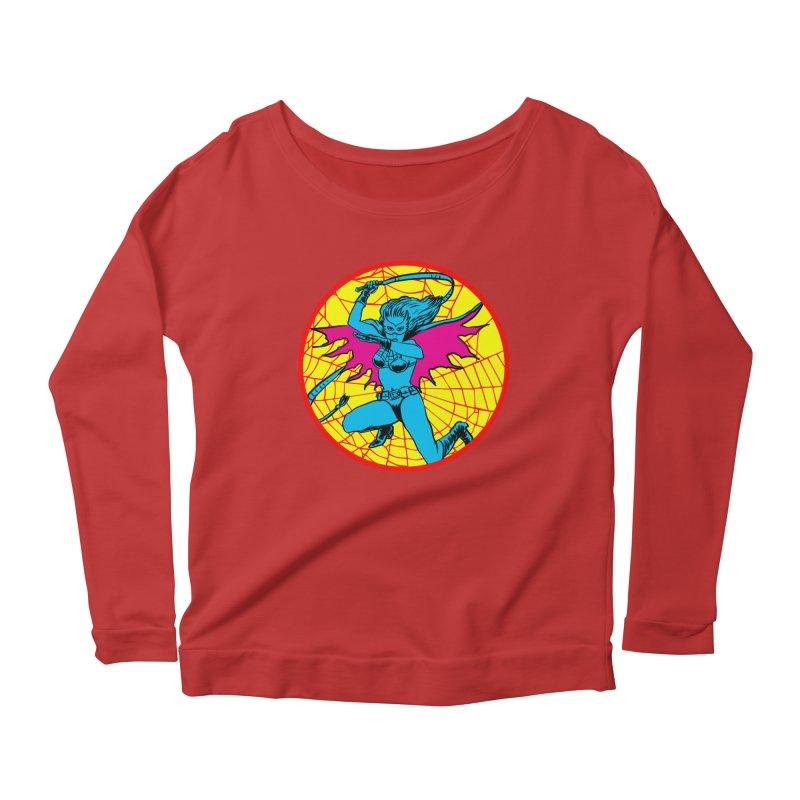 Tarantula Women's Scoop Neck Longsleeve T-Shirt by aziritt's Artist Shop
