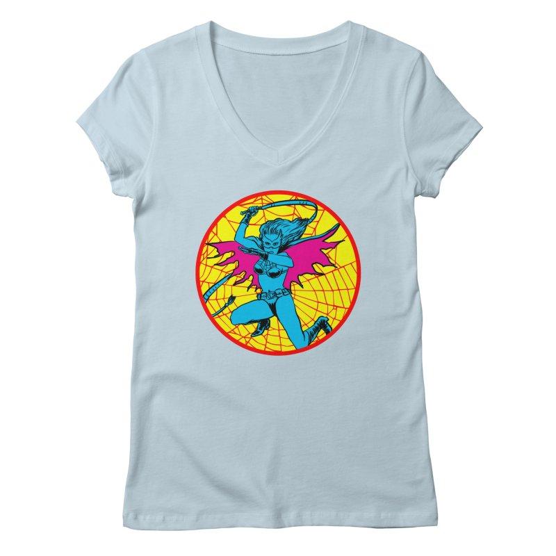 Tarantula Women's V-Neck by aziritt's Artist Shop
