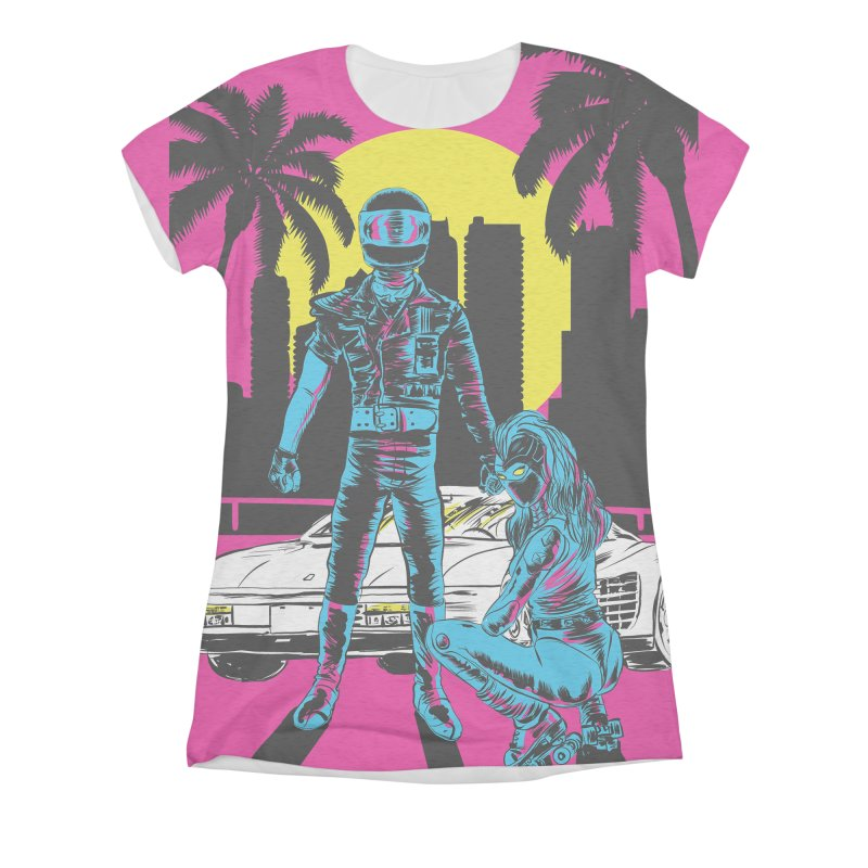 Miami1984 Women's Triblend All Over Print by Alexis Ziritt