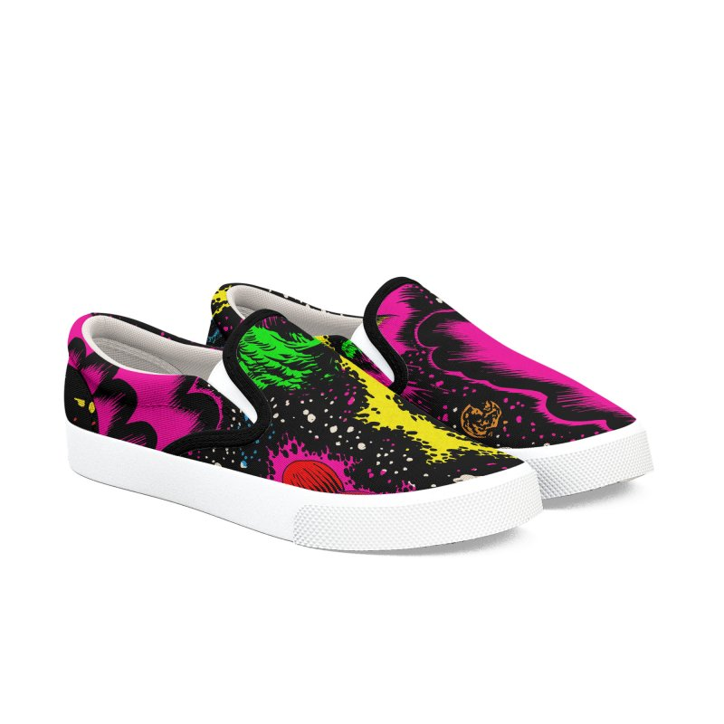 Space_05 Men's Slip-On Shoes by aziritt's Artist Shop