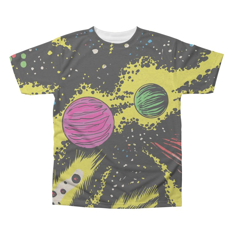 Space_06 Men's Triblend All Over Print by aziritt's Artist Shop
