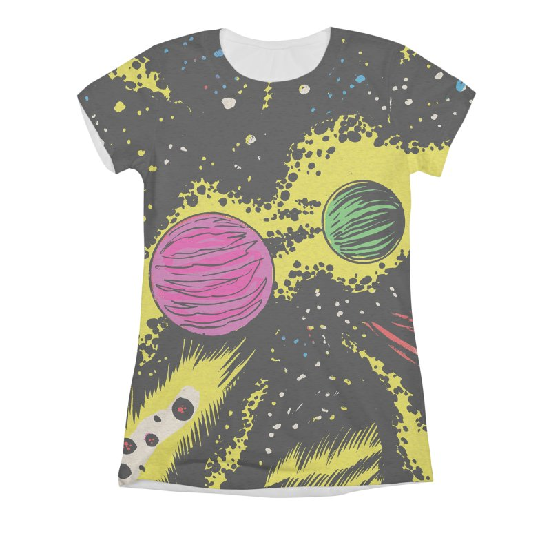 Space_06 Women's Triblend All Over Print by Alexis Ziritt