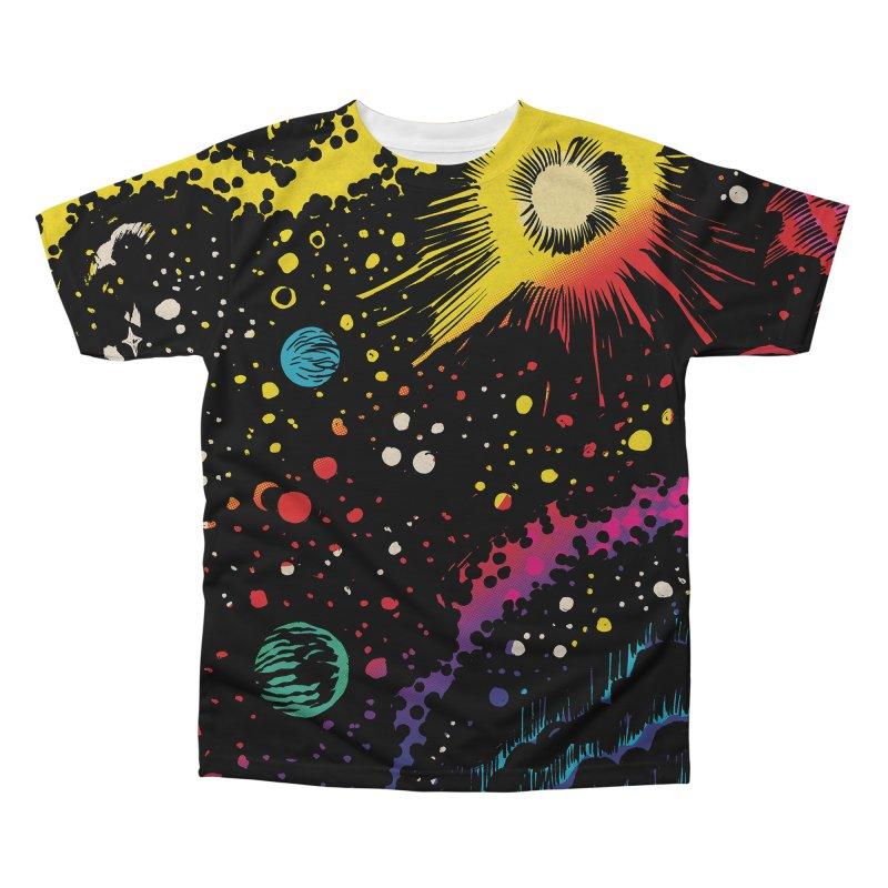 Space in Men's Regular All Over Print by Alexis Ziritt