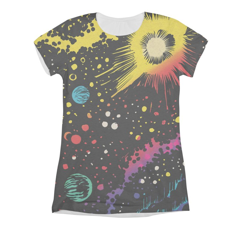 Space Women's Triblend All Over Print by Alexis Ziritt