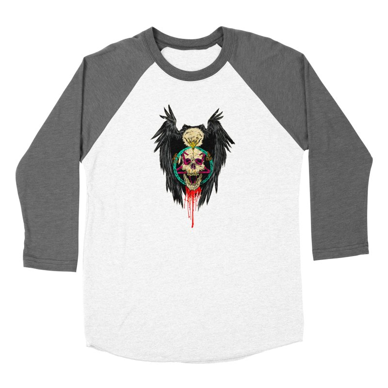 Eagle Of Doom Metal Women's Baseball Triblend Longsleeve T-Shirt by Alexis Ziritt