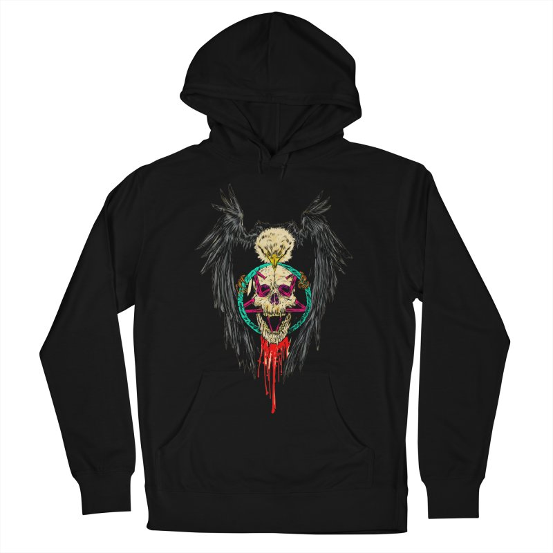 Eagle Of Doom Metal Women's French Terry Pullover Hoody by aziritt's Artist Shop