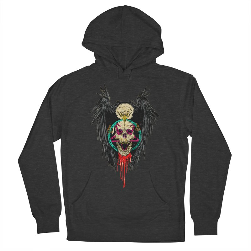 Eagle Of Doom Metal Men's French Terry Pullover Hoody by aziritt's Artist Shop