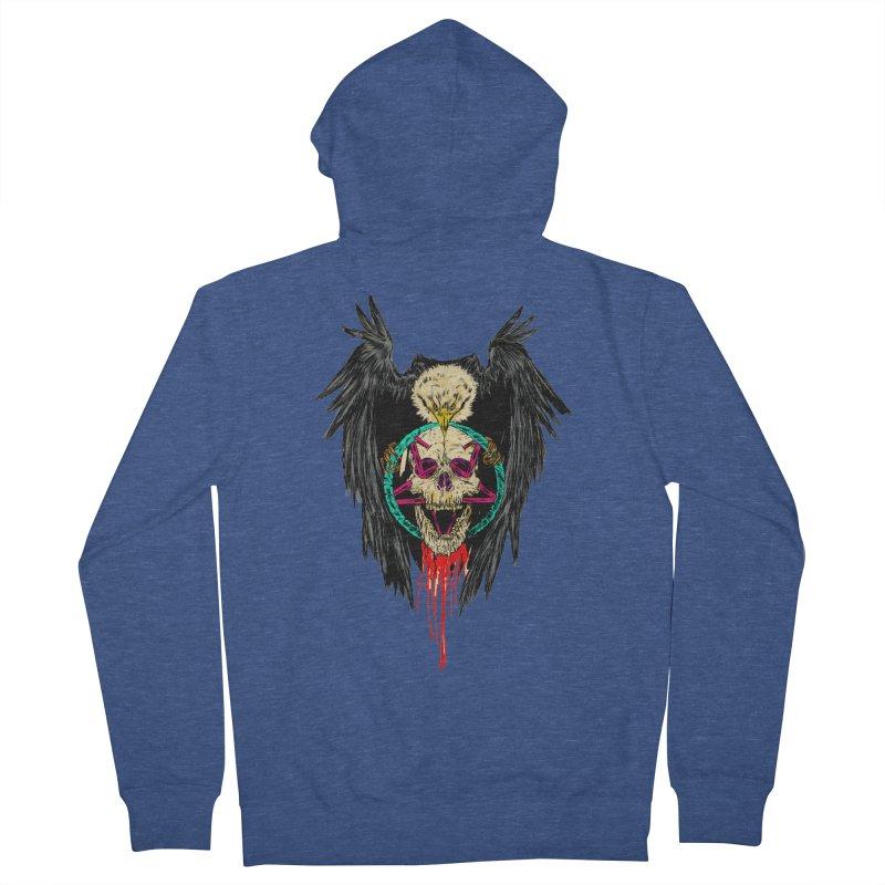 Eagle Of Doom Metal Women's French Terry Zip-Up Hoody by aziritt's Artist Shop