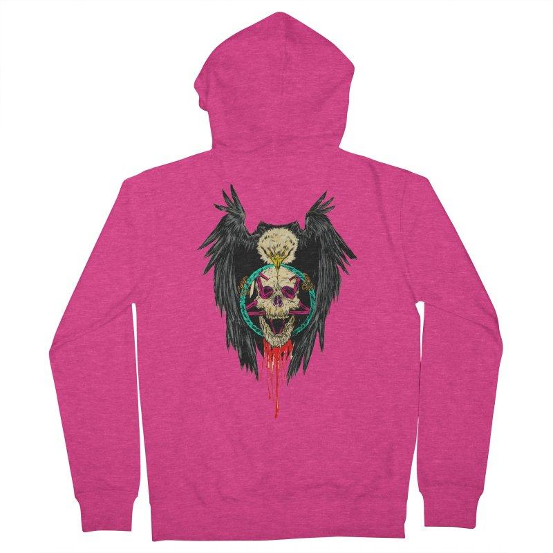 Eagle Of Doom Metal Women's Zip-Up Hoody by aziritt's Artist Shop