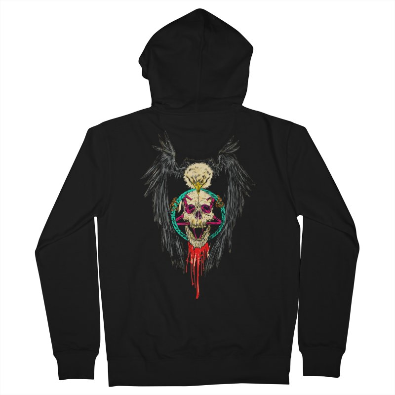 Eagle Of Doom Metal Women's French Terry Zip-Up Hoody by aziritt's Artist Shop