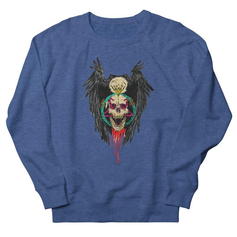 Eagle Of Doom Metal Women's French Terry Sweatshirt by aziritt's Artist Shop