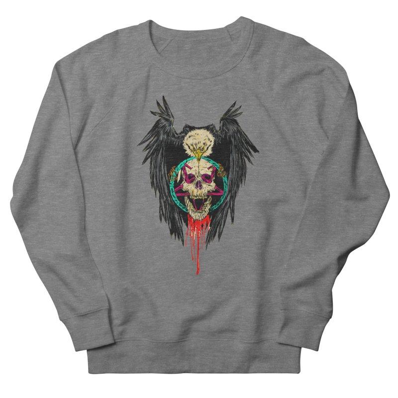 Eagle Of Doom Metal Men's French Terry Sweatshirt by Alexis Ziritt