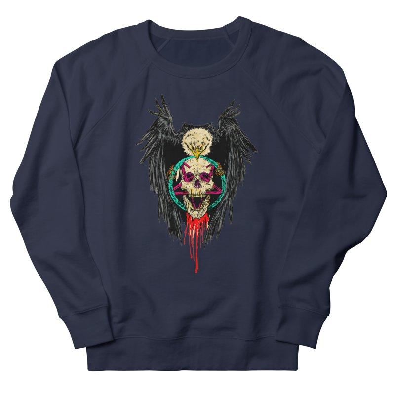 Eagle Of Doom Metal Men's French Terry Sweatshirt by aziritt's Artist Shop