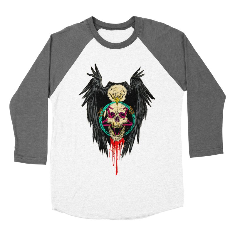 Eagle Of Doom Metal Women's Baseball Triblend Longsleeve T-Shirt by Alexis Ziritt