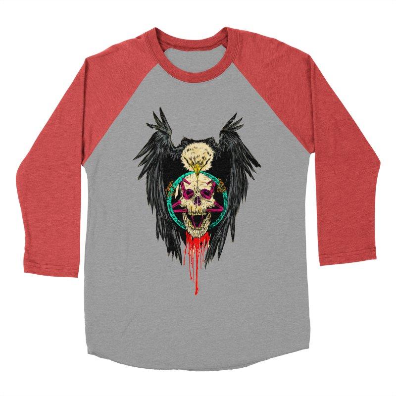 Eagle Of Doom Metal Women's Baseball Triblend T-Shirt by aziritt's Artist Shop