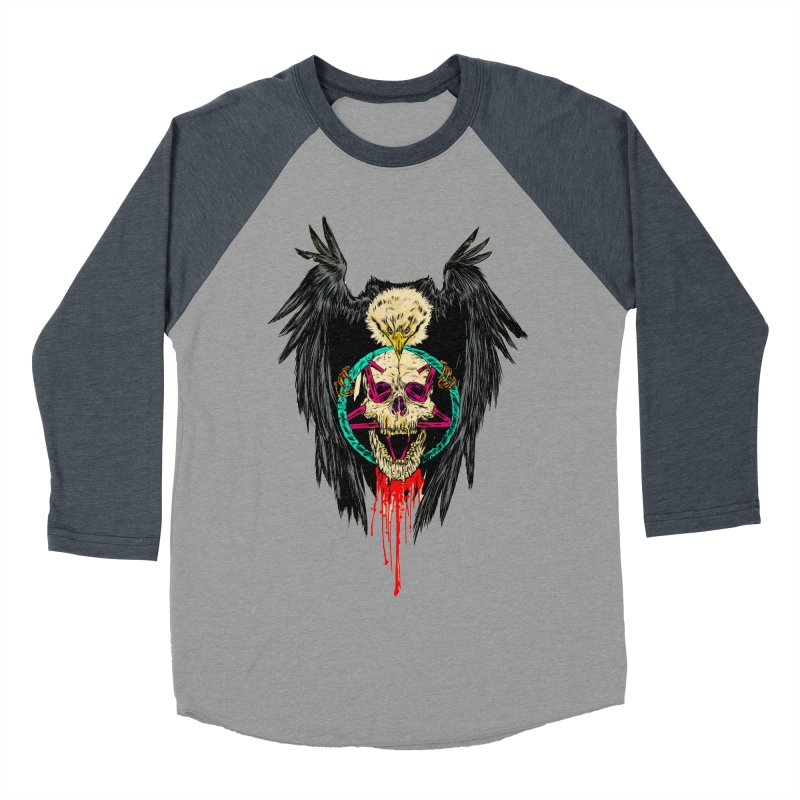 Eagle Of Doom Metal Men's Baseball Triblend Longsleeve T-Shirt by aziritt's Artist Shop