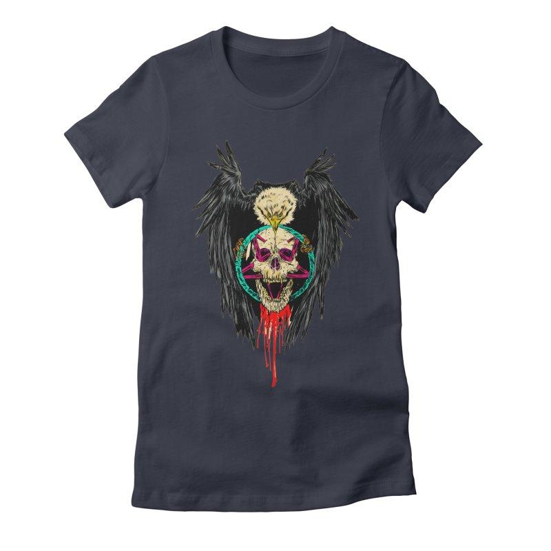 Eagle Of Doom Metal Women's Fitted T-Shirt by Alexis Ziritt