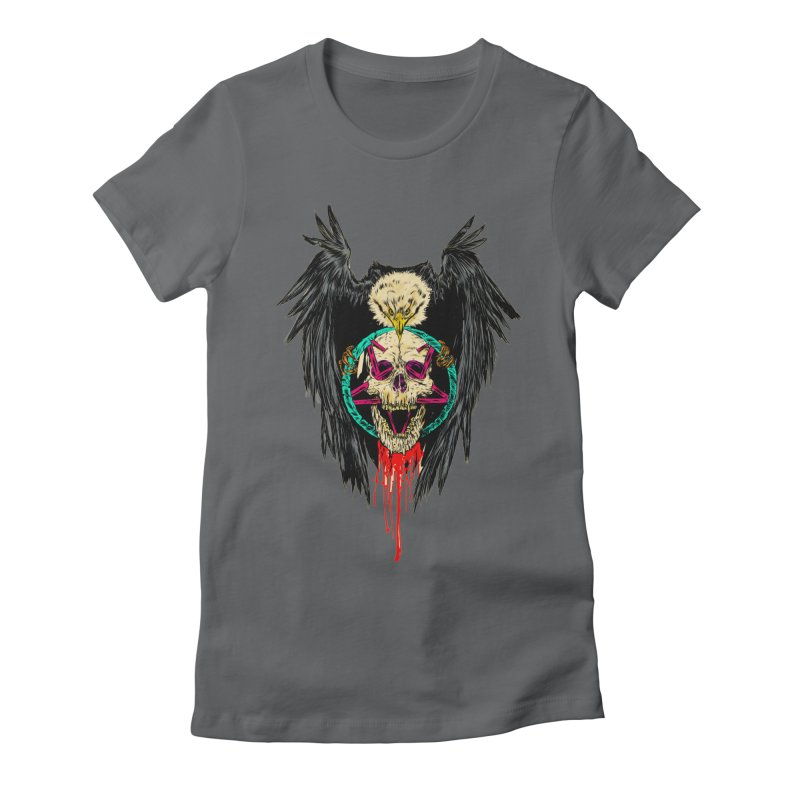 Eagle Of Doom Metal Women's Fitted T-Shirt by Alexis Ziritt