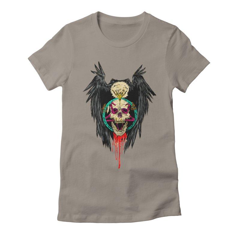 Eagle Of Doom Metal Women's Fitted T-Shirt by aziritt's Artist Shop