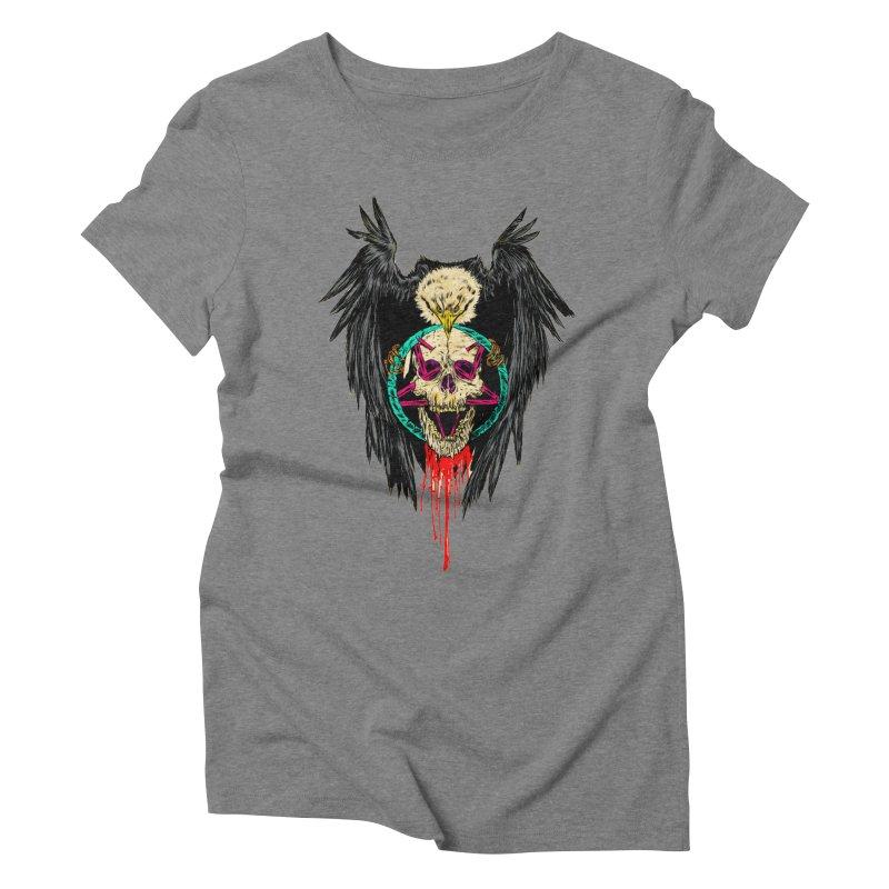 Eagle Of Doom Metal Women's Triblend T-Shirt by aziritt's Artist Shop