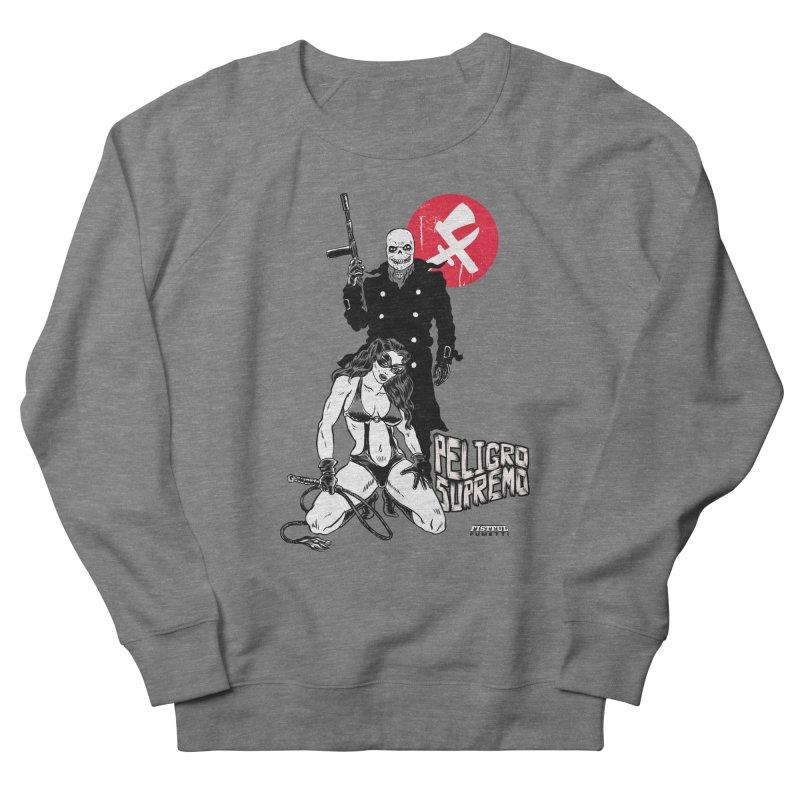 Peligro Supremo Men's French Terry Sweatshirt by Alexis Ziritt